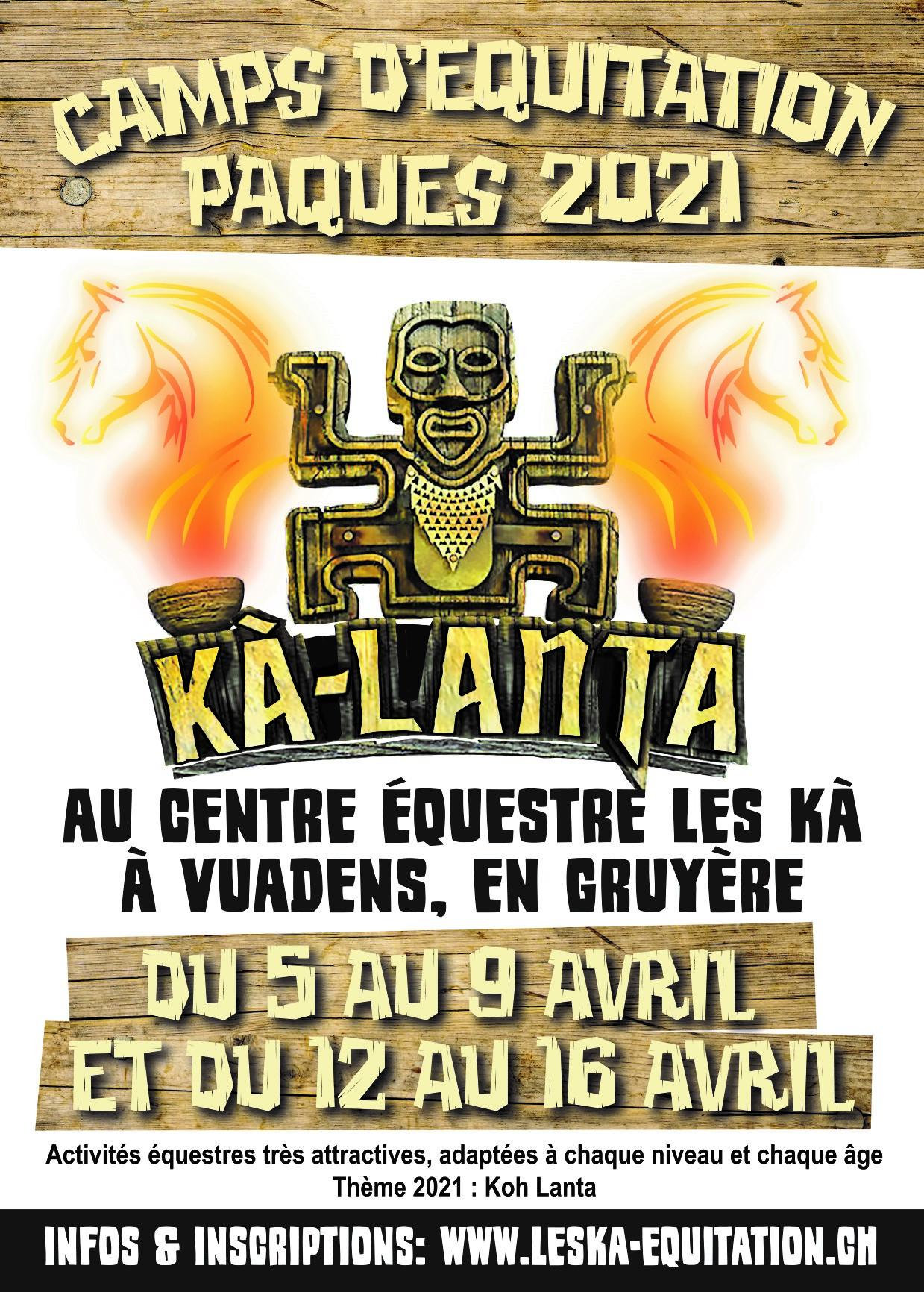 Camp d'équitation – Pâques 2021